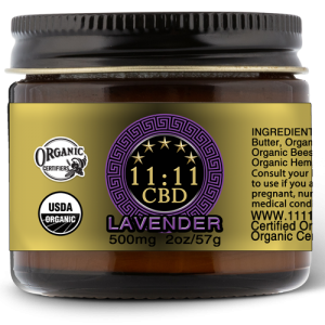 11:11CBD body cream lavender 500mg