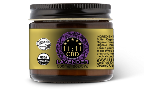11:11CBD body cream lavender 500mg