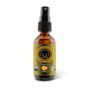 11:11CBD Massage Oil Apricot 500mg