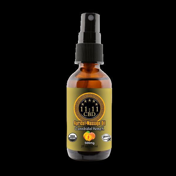 11:11CBD Massage Oil Apricot 500mg